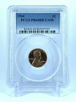 CAMEO PR69RD CAM 1964 RED LINCOLN PENNY PCGS GRADED 1C PROOF COIN LIBERTY US