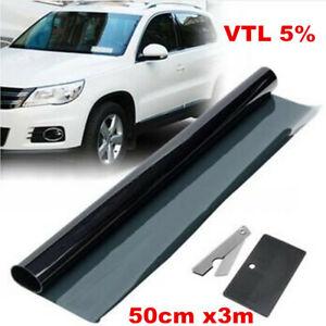 Universal Black VTL 5% Car Window Tint Roll 50cm*300cm Professional Tint Film