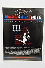 1995 Jimi Hendrix Electric Guitar Festival Poster Seattle Sept 1-4