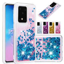 For Samsung Galaxy S20 Ultra S20 Plus Phone Case Cover Liquid Glitter Hybrid TPU
