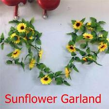 Yellow Sunflower Chain Garland 8 5 ft Silk Wedding Flowers Arch'Gazebo,Decor
