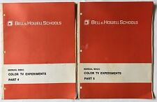 Vintage Lot of 2 Bell & Howell Schools Manuals - Color Tv Experiments