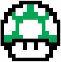 Nintendo NES 8Bit Mario 1Up Mushroom Vinyl Die Cut Sticker 4 Stickers