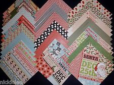 12x12 Scrapbook Cardstock Paper Christmas Holiday North Pole Santa Claus 40 Lot