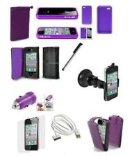 10 X ACCESSORY Purple PREMIUM BUNDLE KIT FOR IPHONE 4 4S Mobile & PDA Acc.