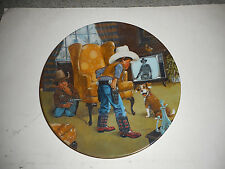 Cowboy Capers Children's Hour  Limited Edition Decorative Plate 1981