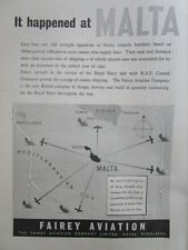 9/45 PUB FAIREY AVIATION TORPEDO DIVE BOMBER MALTA MALTE GOZO WWII ROYAL NAVY AD