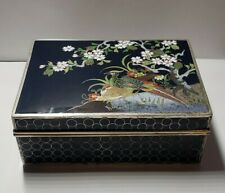 """Vintage Japanese Signed """"S. INABA KYOTO"""" Silver Cloissonne Jewelry Box. - RARE!!"""