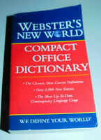 Websters New World Compact Office Dictionary PB 2013 Homeschool Classroom