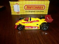 Matchbox Mb65 Indy Racer Yellow Thailand W/Box