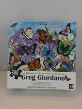 """NEW Art Puzzle 300 PC's 24"""" x 18"""" Greg Giordano, Blue Butterflies Free Shipping"""