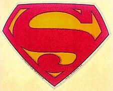 Original Vintage Superman Logo Iron On Transfer Glitter Outline D.C. Comics
