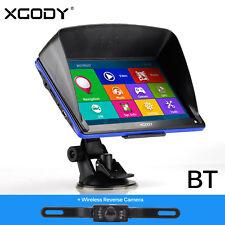 "Car 7"" GPS Navigation Bluetooth Sat Nav with Wireless Rear View Backup Camera"