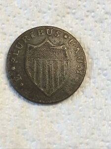 1786 New Jersey colonial copper cent