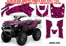 AMR RACING DEKOR GRAPHIC KIT ATV KAWASAKI KVF 650i & 750i ZEBRA GIRL B