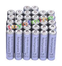 32x AAA 1800mAh 1.2V Ni-MH 3A recargable Pila color gris para MP3/RC/Juguetes