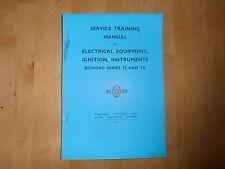 BEDFORD. TK/TJ. MANUALE di apparecchiature elettriche. ACCENSIONE, gli strumenti.ts.510.
