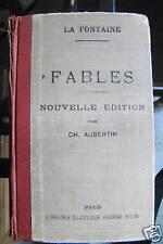 LIVRE - FABLES DE LA FONTAINE - CH. AUBERTIN - 1935
