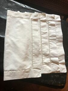 Linen Mix fabric table napkins used but good condition in Ivory Cream (4)