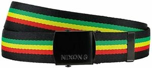 NEW Nixon Basis Men's Red/Yellow/Green Polyester Belt C2315-1114 MSRP $15