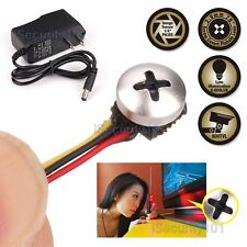 Button Screw CCTV Spy Camera Hidden Pinhole Mini Micro Cam with Power Supply
