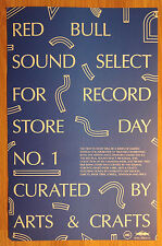 Music Poster Promo Red Bull Sound Select For Record Store Day No. 1