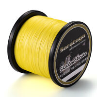 8 Strands Yellow Extreme Dyneema PE Braid Fishing Line 100/300M/500M/1000M/2000M