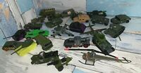 Military Diecast Assorted Scale And Makers 25 Piece Loose Condition $20 shipped