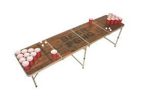 Bier Pong Tisch, Beer Pong Table inkl. Regelwerk, 6 Bällen und 22 Cups,        1