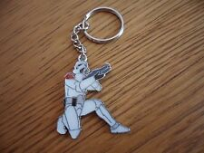 new hand made enamelled storm trooper character key ring