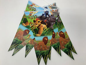 Lion Guard Lion King themed Triangle Flag Banner Birthday Party Decorations
