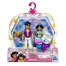 Disney Princess Jasmine and Aladdin, 2 Dolls, Royal Clips Fashion   NEW