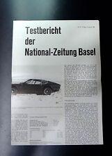 ✇ Original MONTEVERDI 375S Testbericht der National-Zeitung Basel von 1968