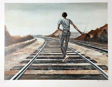 Ernie Barnes Destination Unknown Signed Art Lithograph 1979
