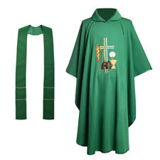 Christan Catholic Chasuble Clergy Vestments Pastor Priest Embroidered Robe