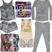 Ladies BAMBI Pyjamas Set DISNEY PJ Shorts Womens Jumper Leggings Primark 6-20 NW