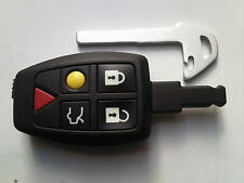GENUINE VOLVO V40 V70 C70 S60 S80 XC90 ETC 5 BUTTON REMOTE ALARM UNCUT KEY FOB