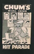 1959 Chum Chart Walking Man Hit Parade 1050 Bob Laine Toronto