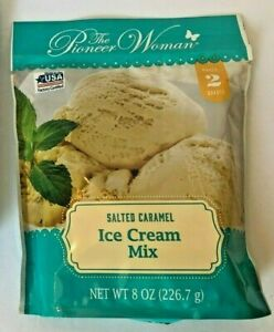 Pioneer Woman Salted Caramel Ice Cream Mix Makes 2 Quarts 8 oz  Ex 09/22