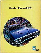 1971 Plymouth Sales Catalog Barracuda Cuda Valiant Duster Scamp Fury Suburban