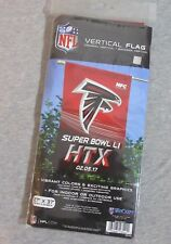 "New listing Atlanta Falcons Super Bowl Li 27"" x 37"" Vertical Flag Large New Fan Souvenir"