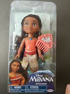 "Disney Moana 6"" Petite Doll with Outfit Shoes Comb Jakks Pacific NEW"