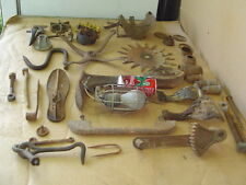 Lot of Vintage STEAMPUNK Iron Parts for salvage junk art odd unusual farm tool