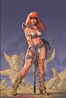 🔥🗡 RED SONJA #18 JOSEPH MICHAEL LINSNER Virgin Variant NM Vampirella Pre-Sale