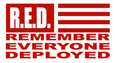 RED Remember Everyone Deployed Vinyl Decal Window Sticker Car