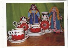 """""""Tea Time...with Russian Dolls""""  {Postcard} (V-20)"""