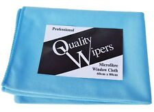 5 x  JUMBO PROFESSIONAL WINDOW GLASS CLEANING POLISH MICROFIBRE CLOTHS 80 x 60