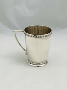 """Antique American Coin 13 Silver Cup  3 3/4"""" Tall"""