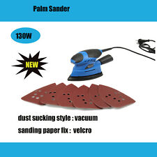 New Electric Palm Sander Super Power Tool  With 6pcs Free Sandpapers 130W 240V