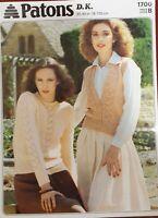"Deux Couleur Cardigan 30-40/"" PATONS Knitting Pattern 4449"